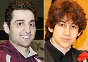 Tamerlan Tsarnaev (trái) và Dzhokhar.